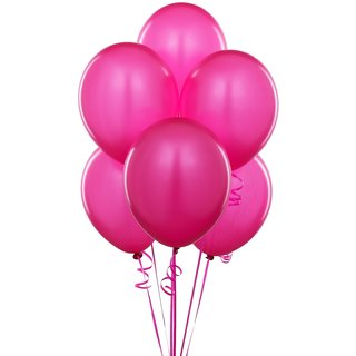 Solid Round Pink Balloon (Pack of 15 Pcs)