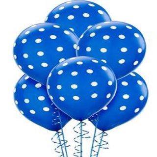 Printed Dark Blue Polka Dot Balloon[15 Pcs] for Birthday Wedding Festival Balloon
