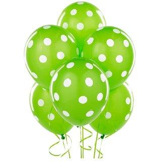 Printed Green Polka Dot Balloon[15 Pcs] for Birthday Wedding Festival Balloon