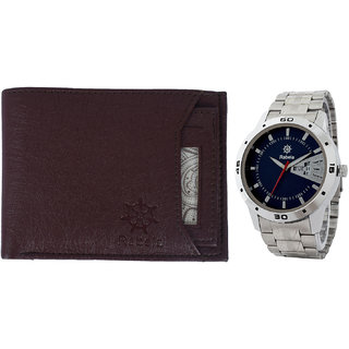 Rabela Men's Watches and Wallet Combo Pack RWW-718
