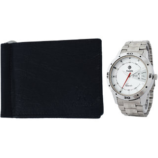 Rabela Men's Watches and Wallet Combo Pack RWW-720
