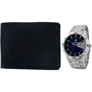 Rabela Men's Watches and Wallet Combo Pack RWW-724