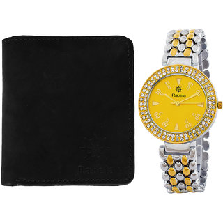 Rabela Women's Watches and Wallet Combo Pack RWWG-1022
