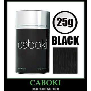 Caboki  Hair Building Fibers 25 Grams Black Color Premium Quality Keratin Protein Hair Fibers