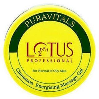 Lotus Professional Cinnamon Energising Massage Gel - 300 gm. For Normal To Oily Skin