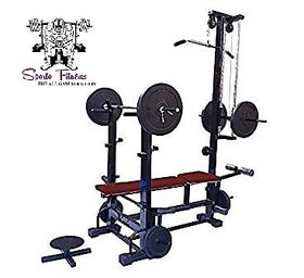 SPORTO FITNESS 20 In 1 Bench With Twister And Double Supported Pipe Heavy Weight Bench For Gym Exercise 2X4 HEAVY DUTY