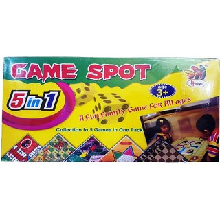 Crete 5 in 1 Fun Family Game Board Game