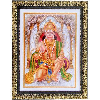 Lord Hanuman Glass Frame