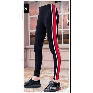 Buy Code Yellow Women S Trendy White Black Red Side Stripe Jeggings Yoga Gym Wear Online Get 61 Off