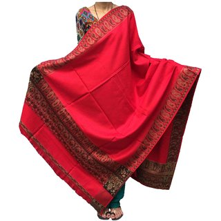 Varun Cloth House Women's Pure Woollen Shawl For Extreme High Winters (vch3803RedFree Size)