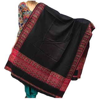 Varun Cloth House Women's Pure Woollen Shawl For Extreme High Winters (vch3805BlackFree Size)