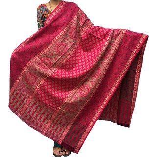 Varun Cloth House Women's Pure Woollen Shawl For Extreme High Winters (vch3810PinkFree Size)