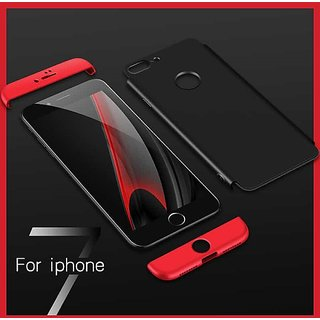 360 Degree Ipaky Red-Black,  Full Body Protection (Front+ Back) Case Cover for Iphone 6/6s