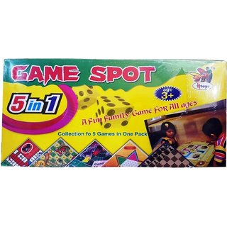 Crete 5 in 1 Fun Family Game Board Game
