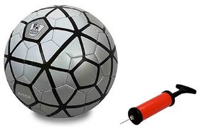 FCB Silver Football + Air Pump