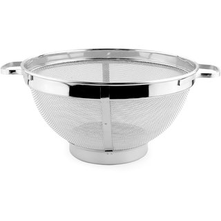 HOME SAPPHIRE STAINLESS STEEL COLANDER/FRUIT BASKET BIG SIZE WITH HEAVY QUALITY MESH