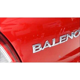 Logo MARUTI SUZUKI BALENO Monogram Chrome Car Monogram Emblem BADGE