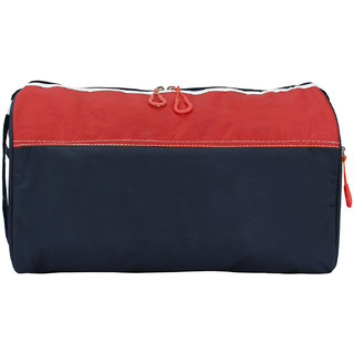 Bart Collection Polyester Red Blue Sports Duffle Bag