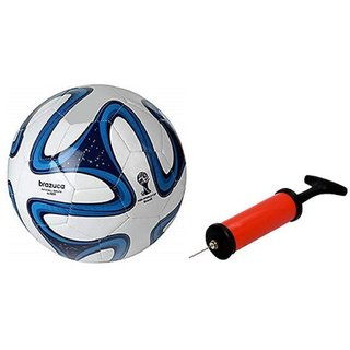 Blue Brazuca Football + Air Pump