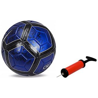 CR 7 Blue Football + Air Pump