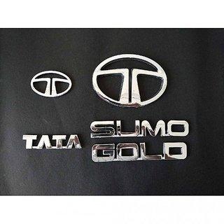 TATA SUMO GOLD CAR MONOGRAM / LOGO / EMBLEM DECAL LOGO chrome emblem