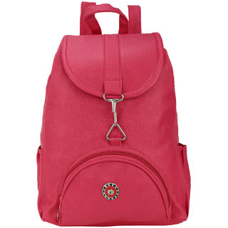 BumBart Collection Stylish Pithu Backpack best for daily use, College and Office use bag, for Girls and Women( Pink , 5 L)