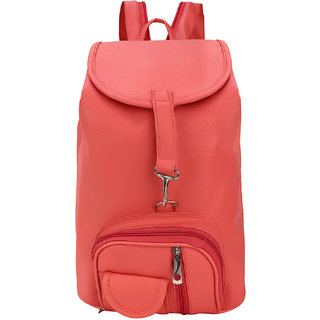 BumBart Collection Stylish Pithu Backpack best for daily use, College and Office use bag, for Girls and Women( Light pink , 5 L)