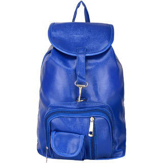 BumBart Collection Stylish Pithu Backpack best for daily use, College and Office use bag, for Girls and Women( Blue , 5 L)
