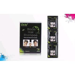 Dexe Black Hair Shampoo - 25ml x 10