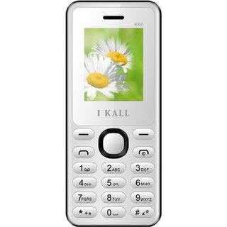Ikall  K-66 1.8 inches (4.57 cm) Display Dual Sim Multimedia Feature Phone (White)