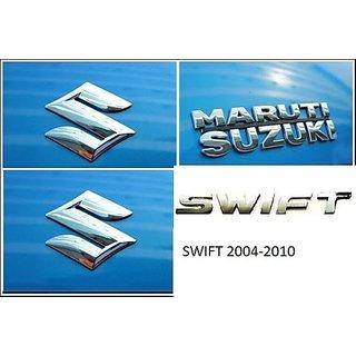 Logo MARUTI SUZUKI SWIFT 2004-2010 Monogram Chrome Car Monogram Emblem BADGE KIT