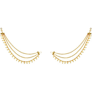 JewelMaze Zinc Alloy Gold Plated Pair of Kan Chain - 1503308