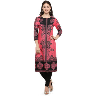 Envy9 Casual Printed Crepe Women Kurti