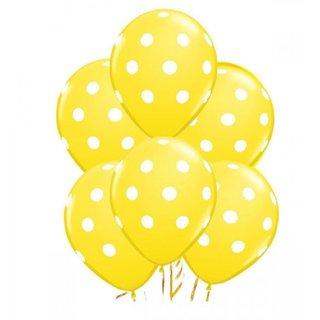 Printed Yellow Polka Dot Balloon50 Pcs for Birthday,Wedding,Festival Balloon