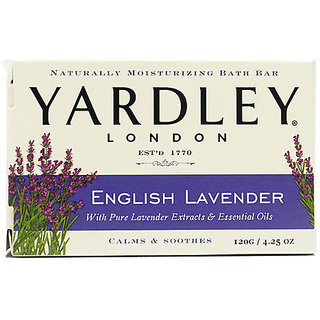 Yardley London English Lavender Soap With Pure Lavender Extracts and Essential Oil Calm and Soothen 120 g