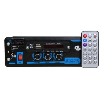 Barry John Car USB Player Double IC HI-FI Sound  Bass Treble with Bluetooth/USB/AUX/MMC/FM Car Stereo  (Single Din)