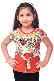 Semi Partywear western Half Sleevless for Kids Size40- Red Top by Triki