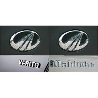 Logo Mahindra Verito Car Decal Emblem Monogram Chrome