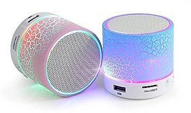 Mini Bluetooth Speaker with Disco Light -( Color as Per Availability)