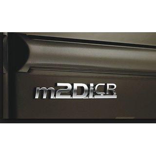 MAHINDRA M2DICR THAR SCORPIO XUV500 XYLO NUVOSPORT BOLERO QUANTO TUV 300 CAR MONOGRAM /LOGO/EMBLEM chrome emblem