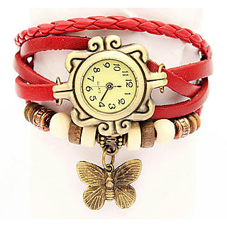 Krown Round Dial Multi Leather Attractive Color Watch