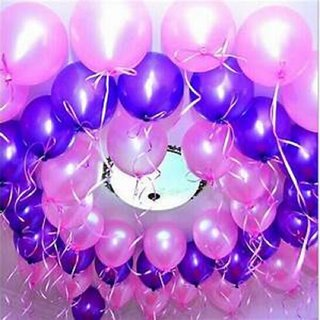 Kala Decorators Solid Large Round Purple & Pink Balloon(Pack of 50)for Birthday Decoration,Baby Shower,Wedding,Festival
