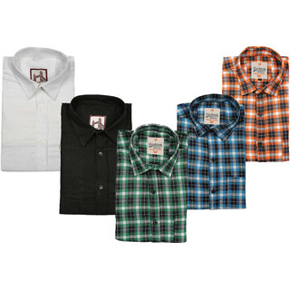 Spain Style Stylish Casual Shirts For Men's Pack of 5