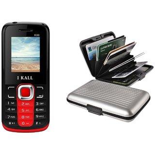 Combo of IKall K99 and Alluminium Wallet (Dual Sim, 1.8 Inch Display, 800 Mah Battery, Made In India)