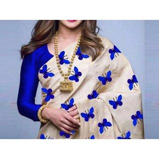 b1a87273b4 P9 Fashion Bollywood Designe Indian Style Latest Women's Zarna Silk  Butterfly Printed Saree