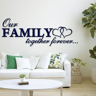 Incredible gifts 3D Wall Dcor Sticker for House Decoration - Our Family (17 x 6.5 inches ) Acrylic