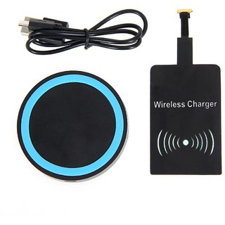 Tech Gear Black Qi Wireless Charger Pad Charging Receiver + USB Cable