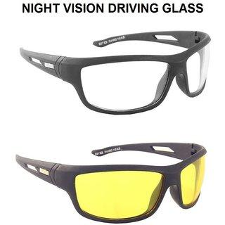 MP HD Vision Unisex Night Day Driving EyeWears ( Set Of 2 ) - Multicolour