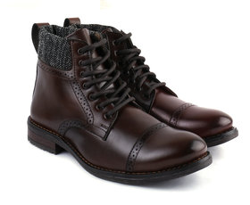 SHUBH STEP  Stylish Boots For Men (Brown)