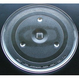 GoodsBazaar Universal Microwave Oven Turntable Glass Plate 12.5 inch Coupler Fiber Glass Tray